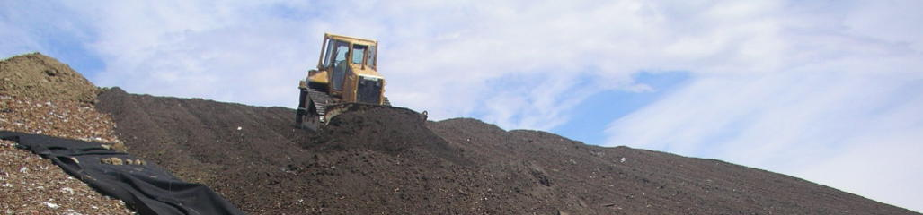Residuals are combined to create a biocover that is applied to the landfill to mitigate fugitive methane emissions.