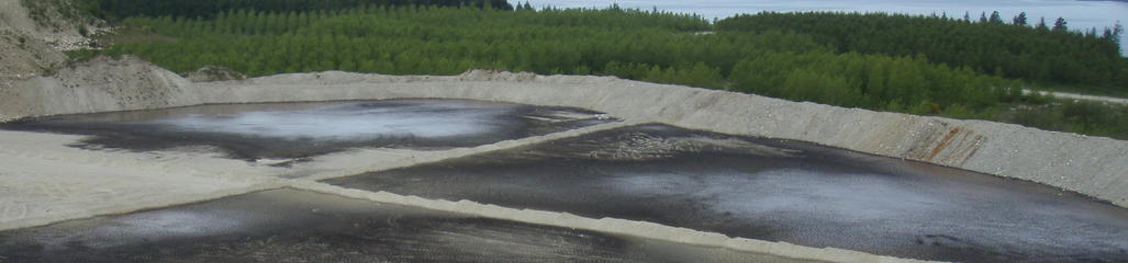 Land drying of water treatment residuals in sand cells.